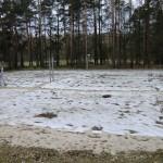 Aufräumarbeiten auf dem Volleyballplatz Rangsdorf