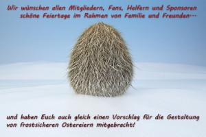 Der SV Lok Rangsdorf wünscht frohe Ostern 2013