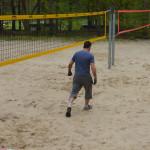 Arbeitseinsatz am Beachvolleyballplatz